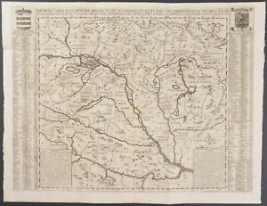 Chatelain - Map of Hungary. 7-38 - 1718 Atlas Historique LARGE Engraving