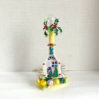 Vintage Hand Decorated Electric Window Candle Light Candolier Candlestick
