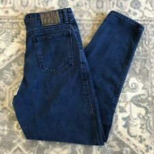 Women's Vintage 90s Zena High-Waist Double-Button Medium Wash Mom Jeans Size 11