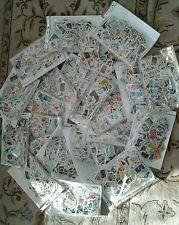 Lot de 1000 timbres de France grands formats et oblitérés
