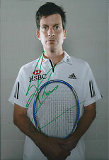 Tim HENMAN Signed 12x8 Autograph Photo AFTAL COA British Tennis Legend Portrait