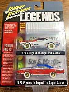 2020 Johnny Lightning 2-Pack Legends of Quarter Mile White Lightning Chase 1970