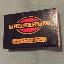 Matchbox- Victoria Station-Purveyor of Prime Rib and Potable Spirits