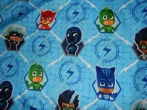 LN Disney PJ MASKS Microfiber Toddler Bed Flat top Sheet (Fabric)