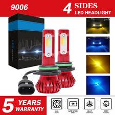 Pair 9006 HB4 LED Fog Light Bulb Dual Color Still / Flash Mode Amber Ice Blue