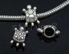 10/40/200pcs Tibetan Silver Bulk Lots big  tortoise Beads  European Charms Beads