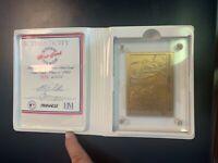 Highland Mint Nolan Ryan 1993 Pinnacle Now & Then Ltd. Edition Bronze Card #3638