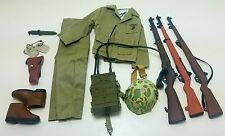 Military Uniform Weapons Accessories for 1/6 Scale Action Figure GI Joe Lot #518