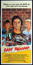 FAST TALKING Original Daybill Movie poster STEVE BISLEY Australian Film