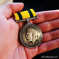 Territorial Force War Medal WW1 Awarded to British and Nursing Service Repro