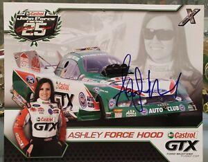 2010 Autograph Picture NHRA Ashley Force Castrol GTX