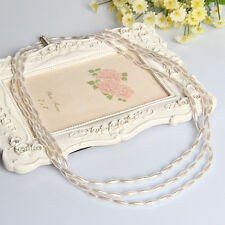 Top Quality Elegant Craft Cream Pearls Strand Bead Handmade Necklace 24 inch UK