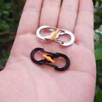 10x Metal Outdoor S Shape 8 Type Carabiner Key Chain Hook Clip Buckle Slidelock