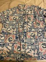 Alfred Shaheen Reyn Spooner Mens Shirt 2xl XXL Hawaiian Quarter Button