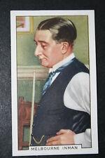 Billar Melbourne Inman Vintage Década de 1930 Color Tarjeta en muy buena condición