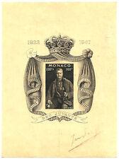 MONACO, bloc n° 2 Louis II, EPREUVE PROOF, superbe, peut-être UNIQUE !