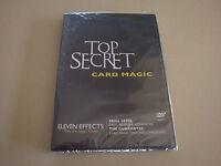 TOP SECRET CARD MAGIC WITH KRIS NEVLING DVD - MAGIC CARD TRICKS ILLUSIONS HOBBY