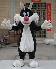 Black Sylvester Cat Mascot Costume Cosplay Animal Party Fancy Dress Adult Outfit