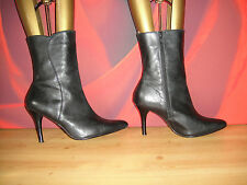 BLACK LEATHER DUNE  ANKLE BOOTS  EU 37 *41*