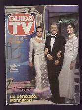 GUIDA TV MONDADORI 40/1982 ENZO TORTORA TRAME FILM CARTONI ANIMATI SCENEGGIATI