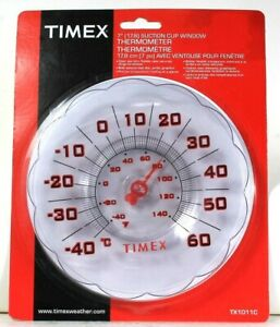 Timex TX1011C 7 Inch Suction Cup Window Thermometer