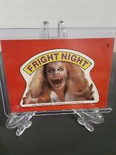 1988 Topps Fright Flicks Sticker #3 Fright Night