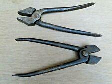 2 outils anciens pince de cordonnier maroquinier a tendre outil +