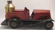 Old 1920s Marx Pressed Steel Siren Sparkling Fire Engine - Firetruck Toy