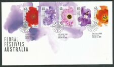 AUSTRALIA 2011 FLORAL FESTIVALS FLOWERS FDC BIN PRICE GB£3.50