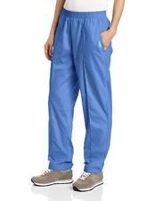 Landau Women's Classic Fit Elastic Waist Scrub Pants Grape, Ceil Blue, TXS