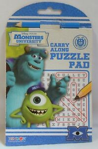 Game Pad MONSTER UNIVERSITY Word Search Puzzle Tablet Pocket Travel