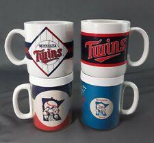 2 Minnesota Twins Baseball ceramic cups + 2 olderThermo-Serv Insulated Mugs