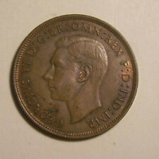 Great Britain Uk 1940 Large One Penny Bronze - Xf/Au - King George Vi