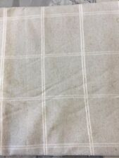 Laura Ashley Fabric Galway Check In Natural 1.3 Metre Piece