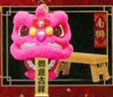 Chinese Traditional Lion Dance Miniature Finger Puppet Pink Head Southern Lion