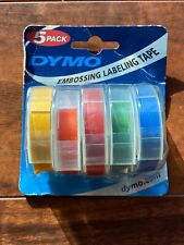 Dymo Embossing Labels Rainbow Colors 5 Pack 38 X 4 Refill Rolls Nos