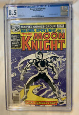 Marvel Spotlight #28 CGC 8.5 First Solo Moon Knight White Pages