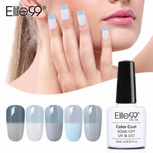 Elite99 Gray Gel Polish Temperature Color-Changing Nail Art Varnish Manicure DIY