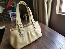 BEAUTIFUL COACH CREAM LEATHER BUSINESS TOTE SHOULDER SHOPPER BAG PURSE LEGACY