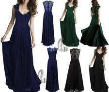 Lace Solid Chiffon Dresses for Women