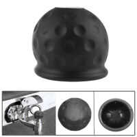 Universal 50mm Black Tow Bar Ball Cover Cap Towing Hitch Caravan Trailer Prot DD