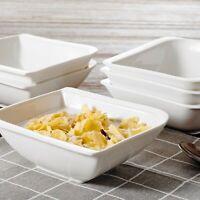 """Cereal Porcelain Dessert Milk Snack Soup Bowl Set 5.5"""" Ivory White,6-Piece"""