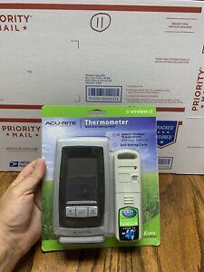 AcuRite Digital Thermometer Indoor / Outdoor Temperature w/ clock  00754W5 NEW