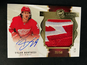 TYLER BERTUZZI 2019-20 UPPER DECK THE CUP LIMITED LOGOS PATCH AUTO SP 21/50