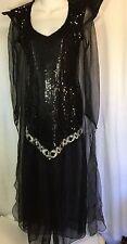 Dreamgirl Costume Witch Evil Queen MEDIUM Sheer Sequins Elegant Halloween