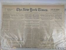 December 27 1936 New York Times Vintage Newspaper Certificate Of Authentication