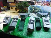 BMC ,PAYTON 1/32 PLASTIC LANDING CRAFT /AMTRAK BUNKER DEAL LOT