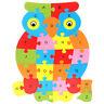 Alphabet Puzzle 3D Bois Jeu éducatif Animaux Hibou Jouet Cadeau Enfant