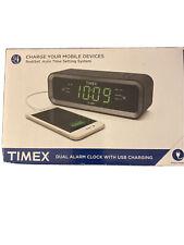 Timex Dual Alarm Clock With Usb Charging Model T236Bx