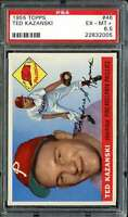 1955 TOPPS #46 TED KAZANSKI PSA 6.5 PHILLIES NICELY CENTERED *DS9647